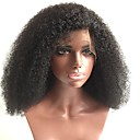 cheap Human Hair Wigs-Human Hair Glueless Full Lace / Full Lace Wig Brazilian Hair Curly / Kinky Curly Wig 150% With Baby Hair / Natural Hairline / Glueless Women's Medium Length Human Hair Lace Wig