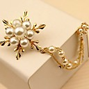 cheap Pins and Brooches-Women's Brooches - Pearl Flower Simple, Elegant Brooch Gold For Daily / Ceremony