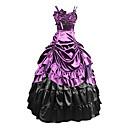 preiswerte Historische & Vintage Kostüme-Gothic Viktorianisch Mittelalterlich Kostüm Damen Kleid Party Kostüme Maskerade Purpur Vintage Cosplay Modal Übergrössen Kundenspezifische