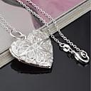 olcso Divat nyaklánc-Női Nyaklánc medálok - Ezüstözött Szív Divat Ezüst Nyakláncok Ékszerek 1 Kompatibilitás Ajándék