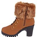 baratos Estolas de Casamento-Mulheres Sapatos Borracha / Courino Inverno Coturnos Botas Botas Curtas / Ankle Preto / Marron