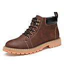 ieftine Cizme Bărbați-Bărbați PU Primăvară / Toamnă Confortabili / Chelsea boot- Cizme Plimbare Anti-Alunecare Maro / Negru