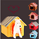 cheap Dog Beds & Blankets-Cat Dog Bed Pet Mats & Pads Solid Stripe Warm Portable Foldable Soft Yellow Coffee For Pets