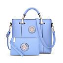 baratos Conjunto de Bolsas-Mulheres Bolsas PU Conjuntos de saco 2 Pcs Purse Set Ziper Vermelho / Roxo / Azul Céu