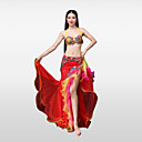 cheap Belly Dance Wear-Belly Dance Outfits Women's Performance Cotton Polyester Lace Beading Petal Crystals / Rhinestones Ruffles Skirts Bra
