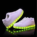 hesapli Fenerler-Erkek Ayakkabı PU Sonbahar / Kış Rahat Spor Ayakkabısı Günlük / Dış mekan için LED Beyaz / Siyah