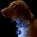 baratos Pinturas a Óleo-Gato Cachorro Colarinho Marcadores Luzes LED Segurança Sólido Plástico Amarelo Vermelho Verde Azul Rosa claro
