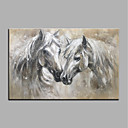 cheap Animal Paintings-Oil Painting Hand Painted - Animals Animals Modern Canvas