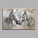 tanie Obrazy: motyw zwierzęcy-Hang-Malowane obraz olejny Ręcznie malowane - Zwierzęta Zwierzęta Nowoczesny Brezentowy