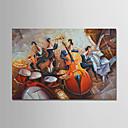 abordables Lámparas Colgantes-Pintura al óleo pintada a colgar Pintada a mano - Personas Modern Lona
