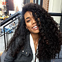 tanie Peruki z włosów ludzkich-Włosy naturalne remy 360 Przednie Peruka Włosy indyjskie Curly Weave Peruka Z Baby Hair 180% Gęstość włosów Damskie Długość średnia Peruki koronkowe z naturalnych włosów CARA