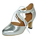 halpa Kengät moderniin tanssiin-Naisten Kengät moderniin tanssiin Tekonahka Sandaalit Räätälöity korko Tanssikengät Musta / Hopea / Harmaa / Sisällä