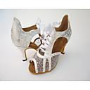 זול נעליים מודרניות-בגדי ריקוד נשים נעלי סלסה רשת עקבים עקב גבוה נעלי ריקוד זהב / שחור / כסף / בבית