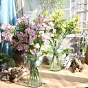 baratos Flor artificiali-Flores artificiais 5 Ramo Europeu Orquideas Flor de Mesa