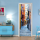 tanie Naklejki ścienne-Naklejki na drzwi - Naklejki ścienne 3D Historia / Vintage / 3D Salon / Sypialnia / Pokój dla dzieci