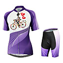 cheap Cycling Jersey & Shorts / Pants Sets-Arsuxeo Women's Short Sleeves Cycling Jersey with Shorts Floral / Botanical Bike Shorts Jersey Clothing Suits, Quick Dry, Anatomic