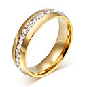 cheap Rings-Men's Women's Ring - Stainless Steel Stylish, Elegant Jewelry Gold / Silver For Wedding Party Party / Evening 8 / 9 / 10 / 11 / 12