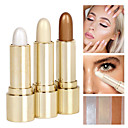 cheap Primer-3 Colors Concealer Bronzers Highlighters 3 pcs Shimmer Natural Glow / Stick Makeup Cosmetic
