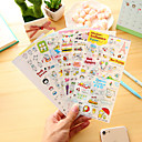 economico Articoli essenziali per ufficio-6 pezzi / set adesivi per scrapbook adesivi murali per autoadesivo del maiale di maiale del fumetto