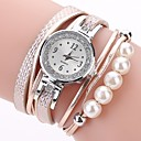baratos Jogos de Tabuleiro-Mulheres Bracele Relógio / Simulado Diamante Relógio Chinês imitação de diamante PU Banda Casual / Boêmio / Fashion Preta / Branco / Azul / Um ano
