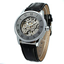 abordables Relojes de Vestir-WINNER Hombre Mujer Reloj Casual Reloj de Moda Reloj de Pulsera Cuerda Automática 30 m Cool Piel Banda Analógico Casual Dorado Negro