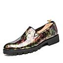 tanie Męskie mokasyny-Męskie Komfortowe buty Materiał do wyboru Wiosna / Jesień Mokasyny i buty wsuwane Czarny / Fioletowy / Czerwony / Impreza / bankiet