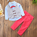 cheap Boys' Clothing Sets-Boys' Solid Colored Block Clothing Set