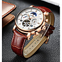 cheap Mechanical Watches-Men's Mechanical Watch Swiss Calendar / date / day / Chronograph / Water Resistant / Water Proof Genuine Leather Band Luxury / Casual /