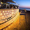 preiswerte LED Lichterketten-1.5 Leuchtgirlanden 96 LEDs LED Diode 1.5M x 1.5M Netzschnurlicht Warmes Weiß / Kühles Weiß / Mehrfarbig 220-240 V / 110-120 V 1pc / IP44
