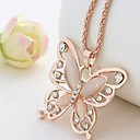 cheap Necklaces-Women's Pendant Necklace / Chain Necklace - Butterfly Dainty, Vintage, Elegant Pink Necklace For Gift, Daily