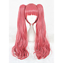 cheap CCTV Cameras-Synthetic Wig kinky Straight Pink Synthetic Hair Pink Wig Women's Medium Length Capless Pink+Red