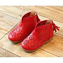 baratos Sapatos de Menina-Para Meninas Sapatos Couro Ecológico Primavera Conforto / Curta / Ankle Botas para Branco / Vermelho / Rosa claro