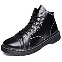 cheap Men's Boots-Men's Light Soles PU(Polyurethane) Spring / Fall Boots Black / Brown