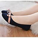 halpa Naisten tasapohjakengät-Naisten Kengät PU Kevät / Syksy Comfort Tasapohjakengät Tasapohja varten Beesi / Sininen