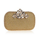 cheap Clutches & Evening Bags-Women's Bags Polyester Evening Bag Crystals Gold / Black / Silver