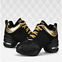 cheap Dance Sneakers-Women's Dance Sneakers Fabric Flat / Sneaker Low Heel Non Customizable Dance Shoes White / Black / Red