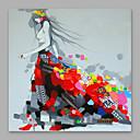 baratos Pinturas Paisagens-Pintura a Óleo Pintados à mão - Pessoas Modern Tela de pintura
