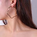 ieftine Cercei la Modă-Pentru femei Cercei Picătură Cercei Rotunzi - Floare Simplu Auriu / Argintiu Pentru Petrecere Zilnic