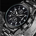 cheap Fashion Watches-Men's Quartz Wrist Watch Japanese Calendar / date / day / Cool Stainless Steel Band Luxury / Fashion Black