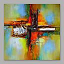 זול ציורי שמן-ציור שמן צבוע-Hang מצויר ביד - מופשט מודרני כלול מסגרת פנימית / בד מתוח