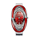 billiga Damstövlar-Dam Armbandsklocka Simulerad Diamant Klocka Diamond Watch Quartz Svart / Silver / Röd 30 m Diamant Imitation Ramtyp damer Glittriga Armring Mode Elegant - Vit Svart Röd