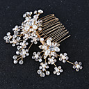 cheap Party Headpieces-Imitation Pearl / Rhinestone / Copper wire Hair Combs / Hair Stick with Rhinestone / Imitation Pearl 1pc Wedding Headpiece