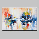cheap Rolled Canvas Paintings-Oil Painting Hand Painted - Landscape Modern Stretched Canvas