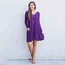 cheap Women's Sandals-Women's Street chic Sheath Dress - Solid Colored High Waist V Neck