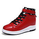 cheap Women's Sneakers-Women's Shoes Leatherette Spring / Fall Comfort Sneakers Creepers Round Toe Buckle White / Black / Red