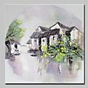povoljno Slike krajolika-Hang oslikana uljanim bojama Ručno oslikana - Pejzaž Rustikalni Moderna Bez unutrašnje Frame / Valjani platno