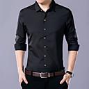baratos Colares-Homens Camisa Social Temática Asiática Sólido Algodão / Manga Longa