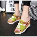ieftine Sandale de Damă-Pentru femei PU Primăvară / Toamnă Confortabili Sandale Toc Drept Vârf rotund Negru / Rosu / Verde