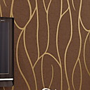 cheap Wallpaper-Striped Home Decoration Modern Wall Covering, Non-woven fabric Material Adhesive required Wallpaper, Room Wallcovering