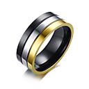 baratos Anéis para Homens-Homens Anel de banda - Aço Inoxidável Fashion 8 / 9 / 10 Cores Sortidas Para Diário / Formal